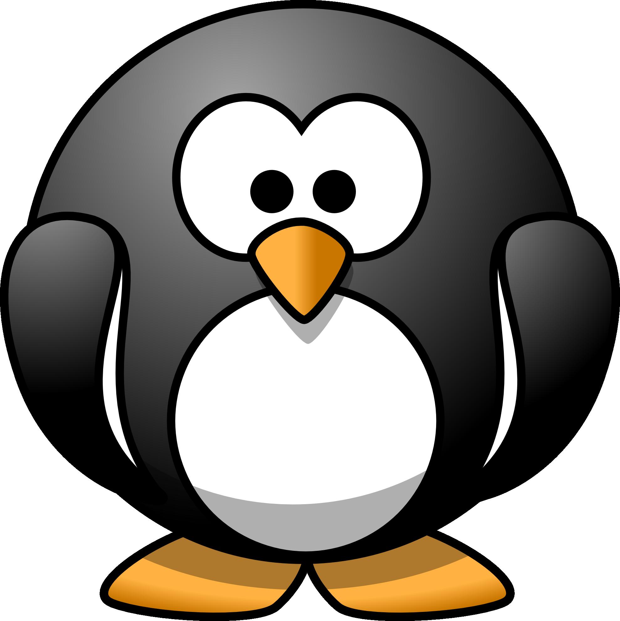 January clipart penguin. Round mascot