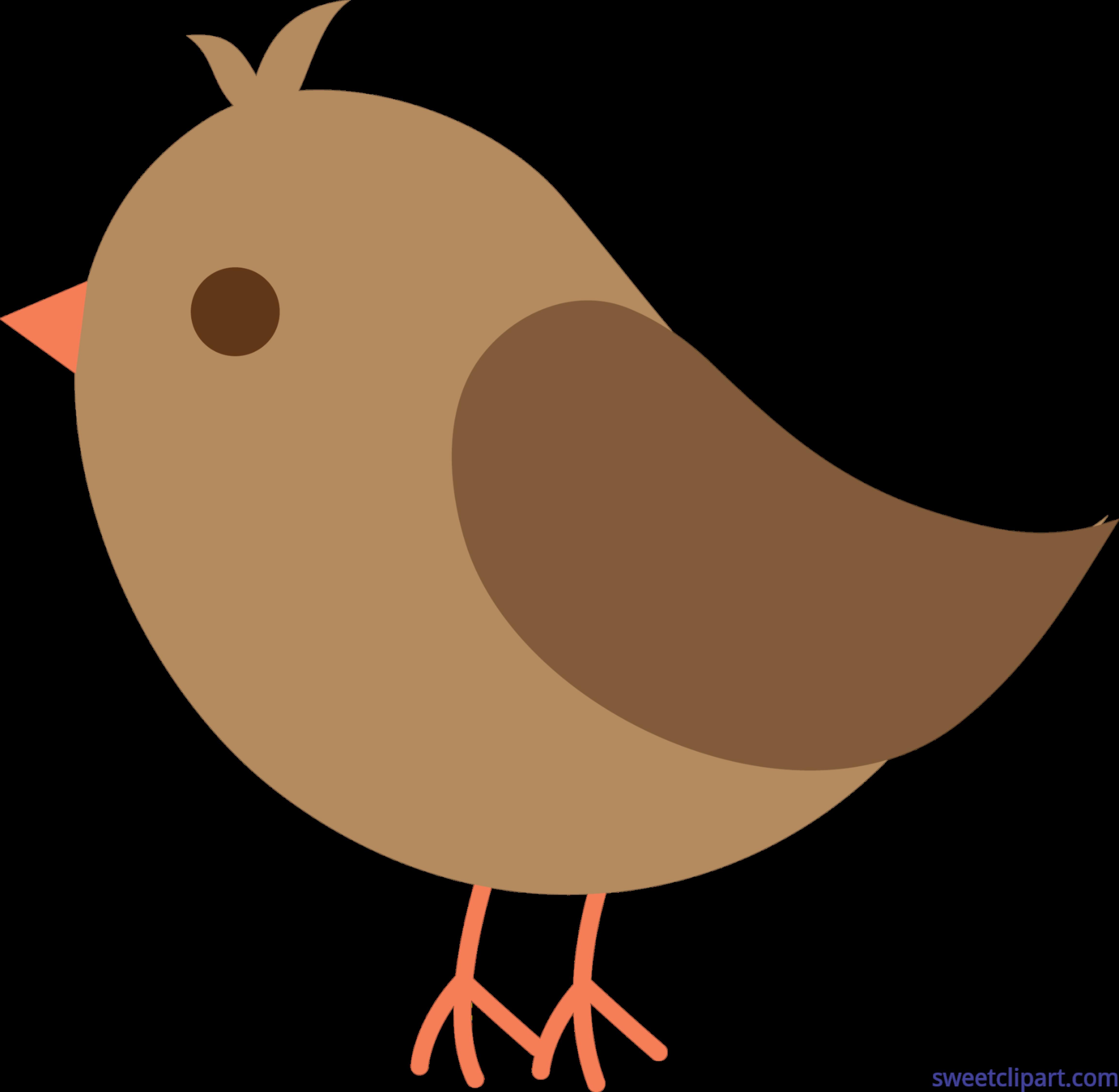Bird brown cute clip. Peppers clipart three