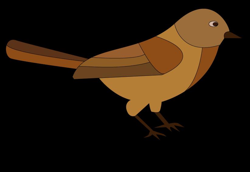 Birdie raster picturet. Clipart birds nightingale