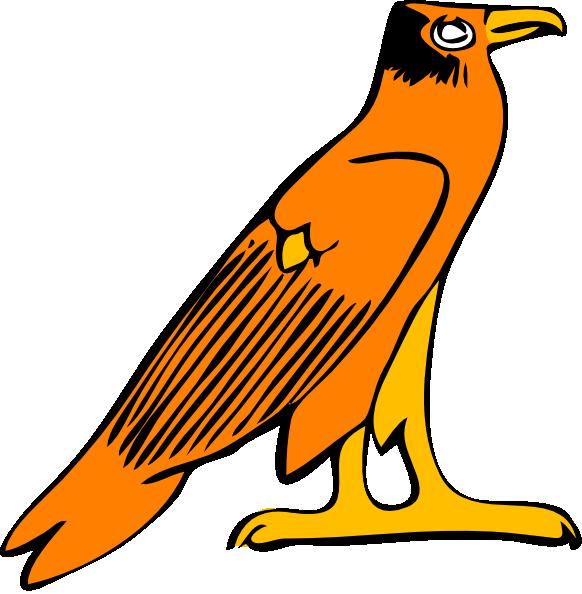 Wing clipart falcon. Pharoa eagle clip art