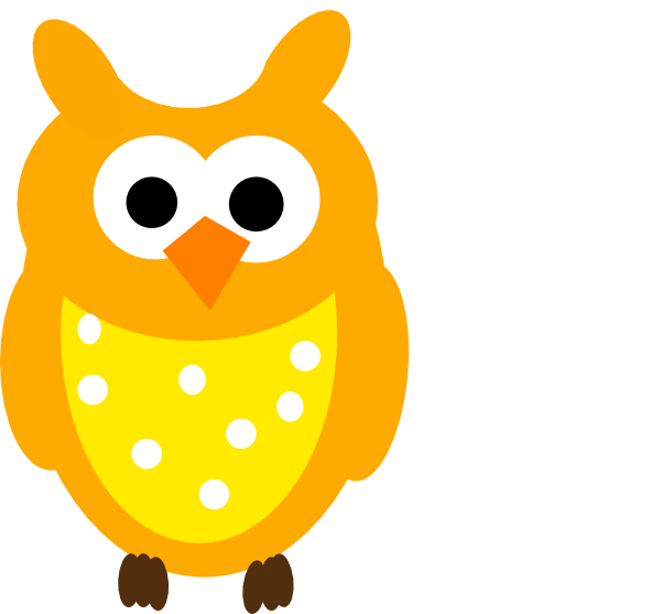 And dots clip art. Orange clipart owl