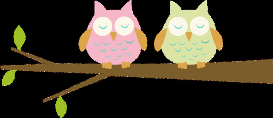 Branch clip art two. Clipart birds owl