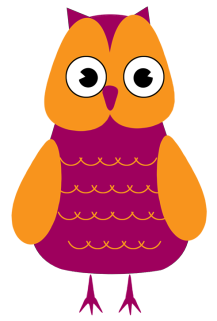 Clip art modern . Clipart birds owl