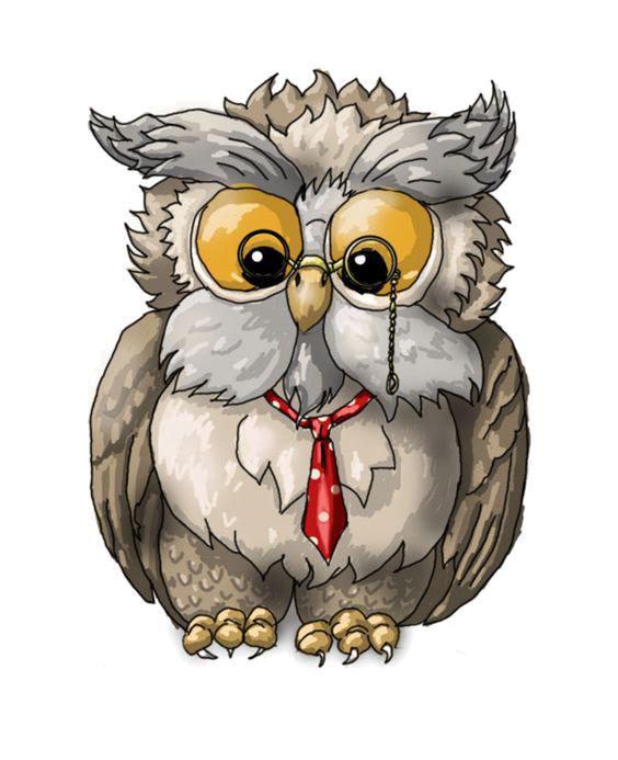 Clipart birds owl. A wise old bird