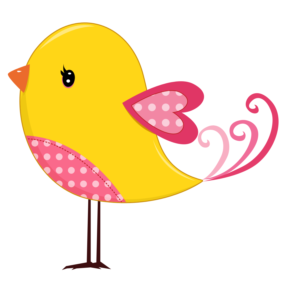 Nest clipart yellow bird. Pink and birds png