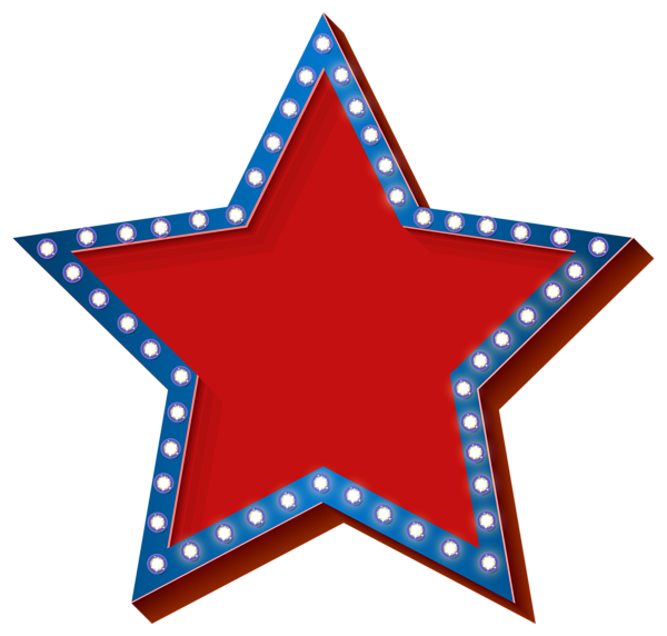 Star with lights transparent. Cross clipart patriotic