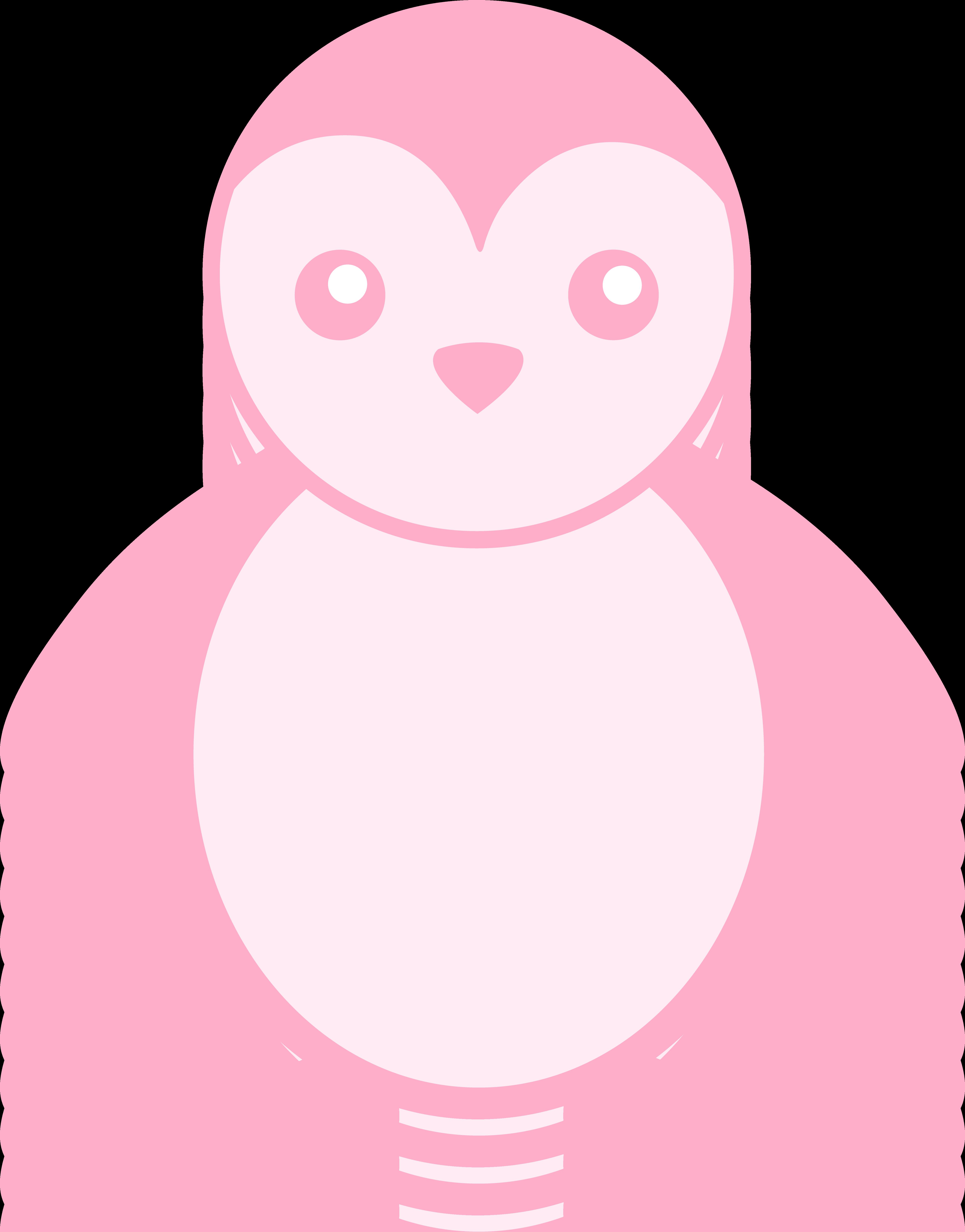 Pink free clip art. Clipart penguin baby penguin