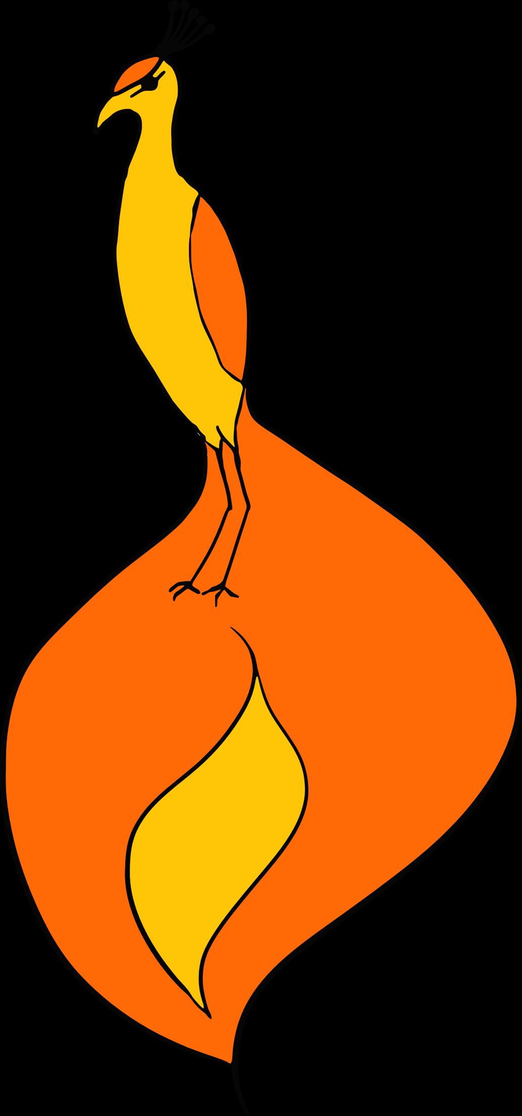 Phoenix bird big image. Thumb clipart fire