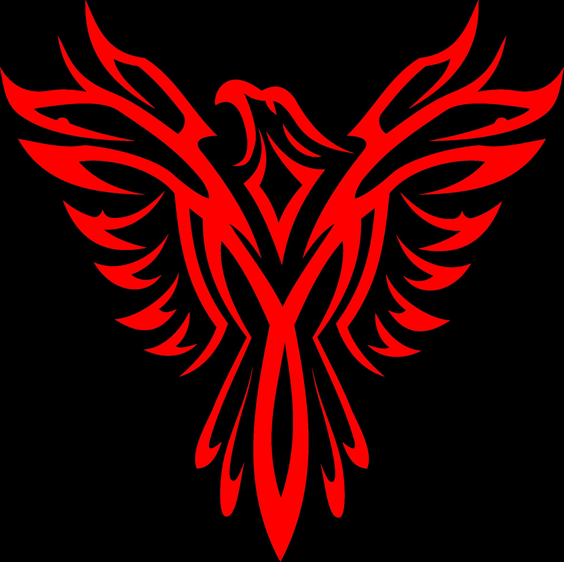 Phoenix line art big. Eagle clipart red