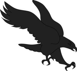 Printable hawk silhouette bird. Eagle clipart stencil