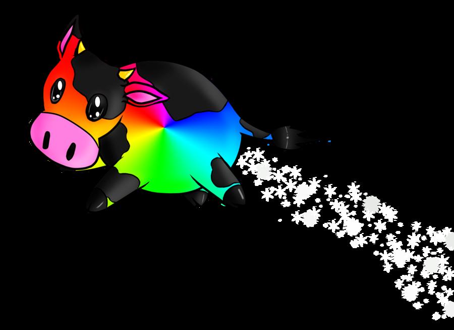 Cow by terrabird on. Clipart rainbow llama