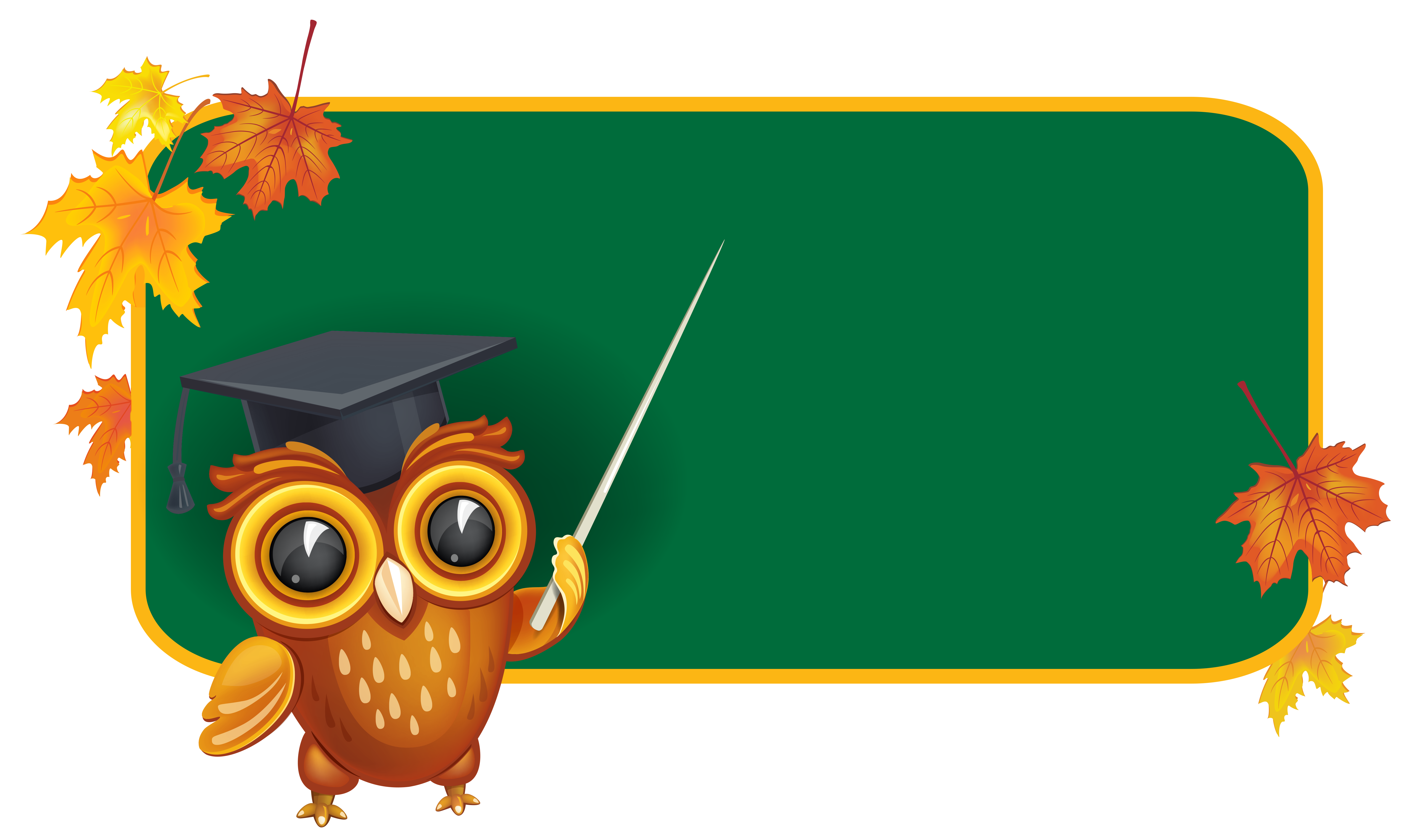 Clipart turtle month. Owl with school board
