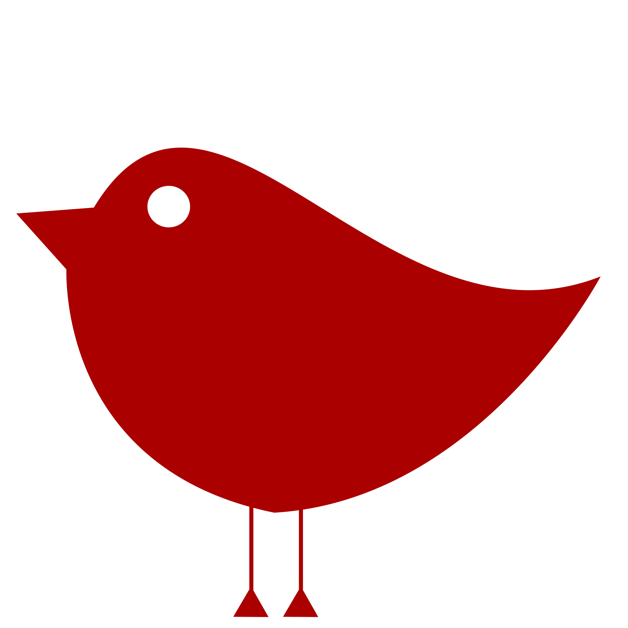 Number 1 clipart color. Simple birdie bird one
