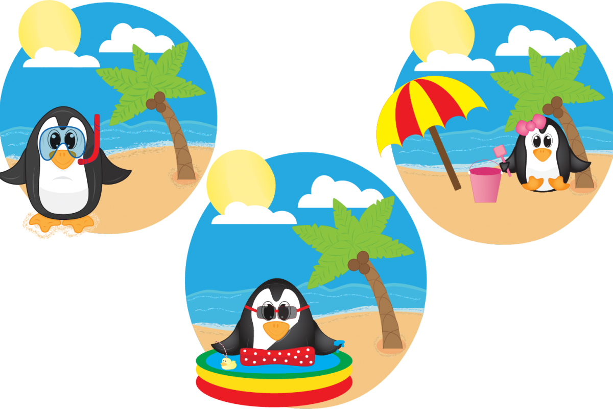 Penguins by cindi gilmour. Clipart penguin summer