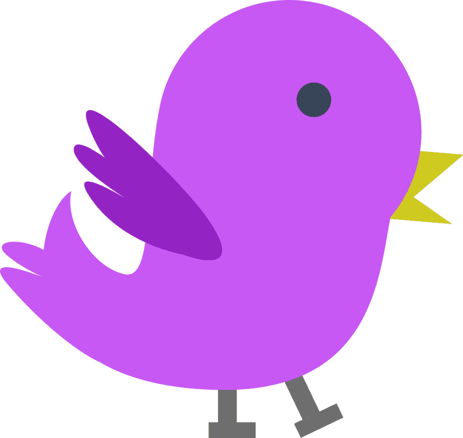 Clipart birds transparent background. Purple bird free icons