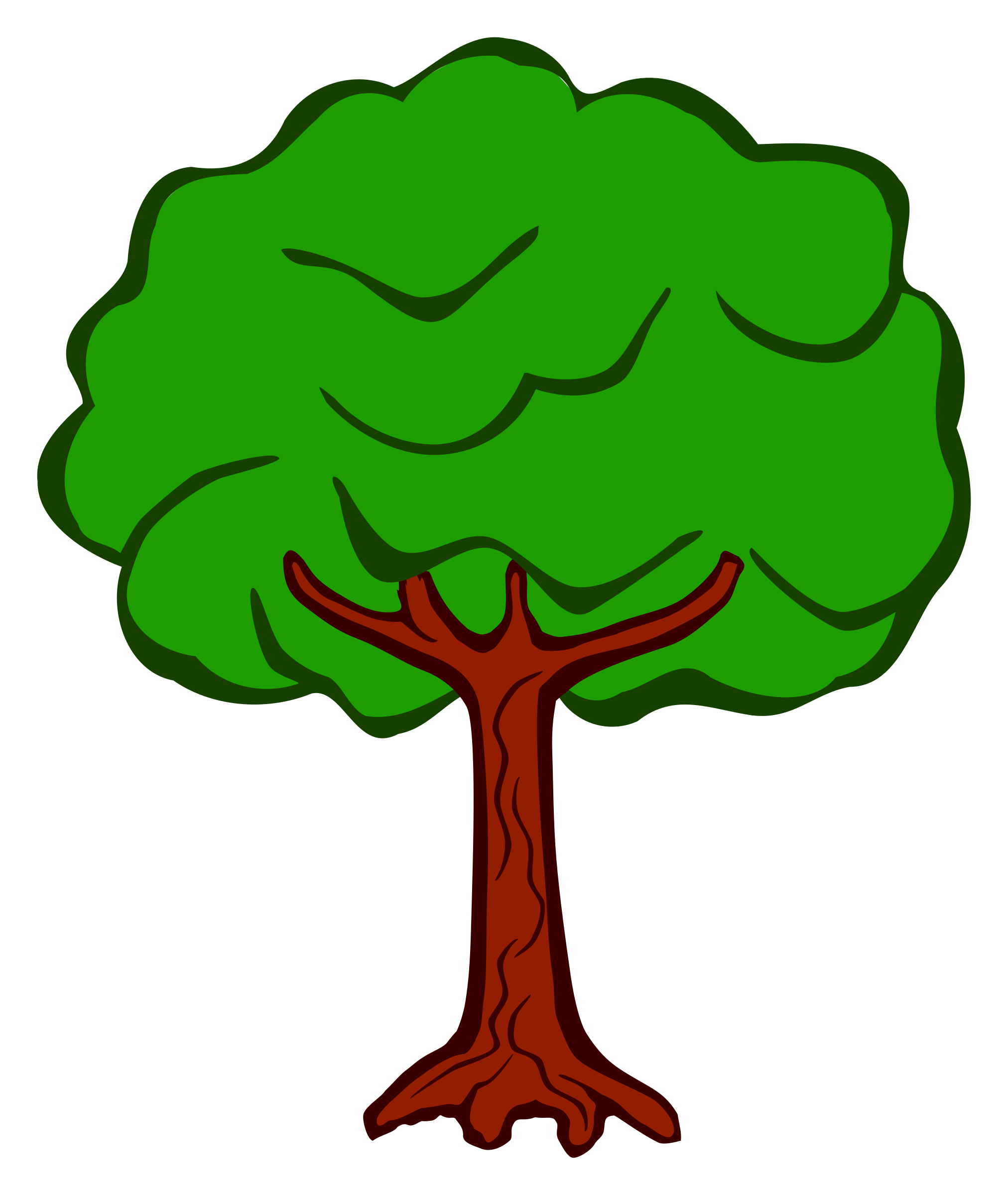 Coloured big image png. Tree clipart printable
