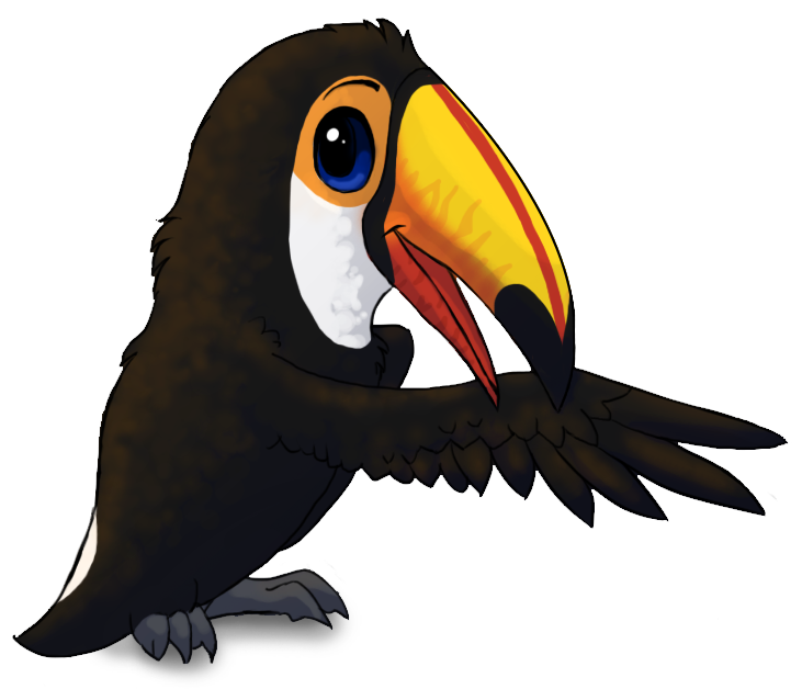 Cartoon toco by starrypoke. Toucan clipart christmas