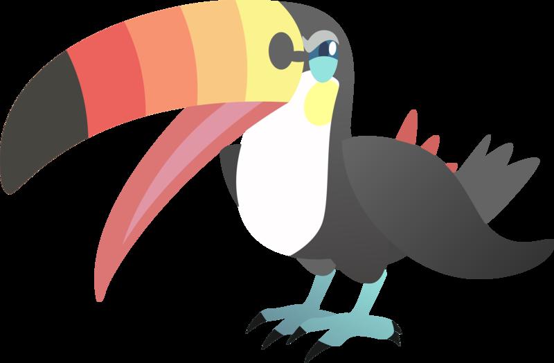 Toucan clipart tucan. Toucannon by alexalan on