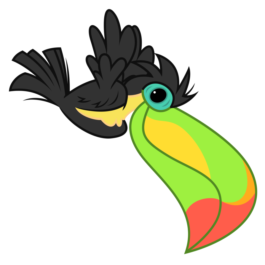 Le will arrive shortly. Toucan clipart vector