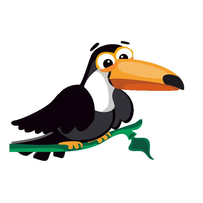 Clipart pineapple toucan. Bird cartoon clip art