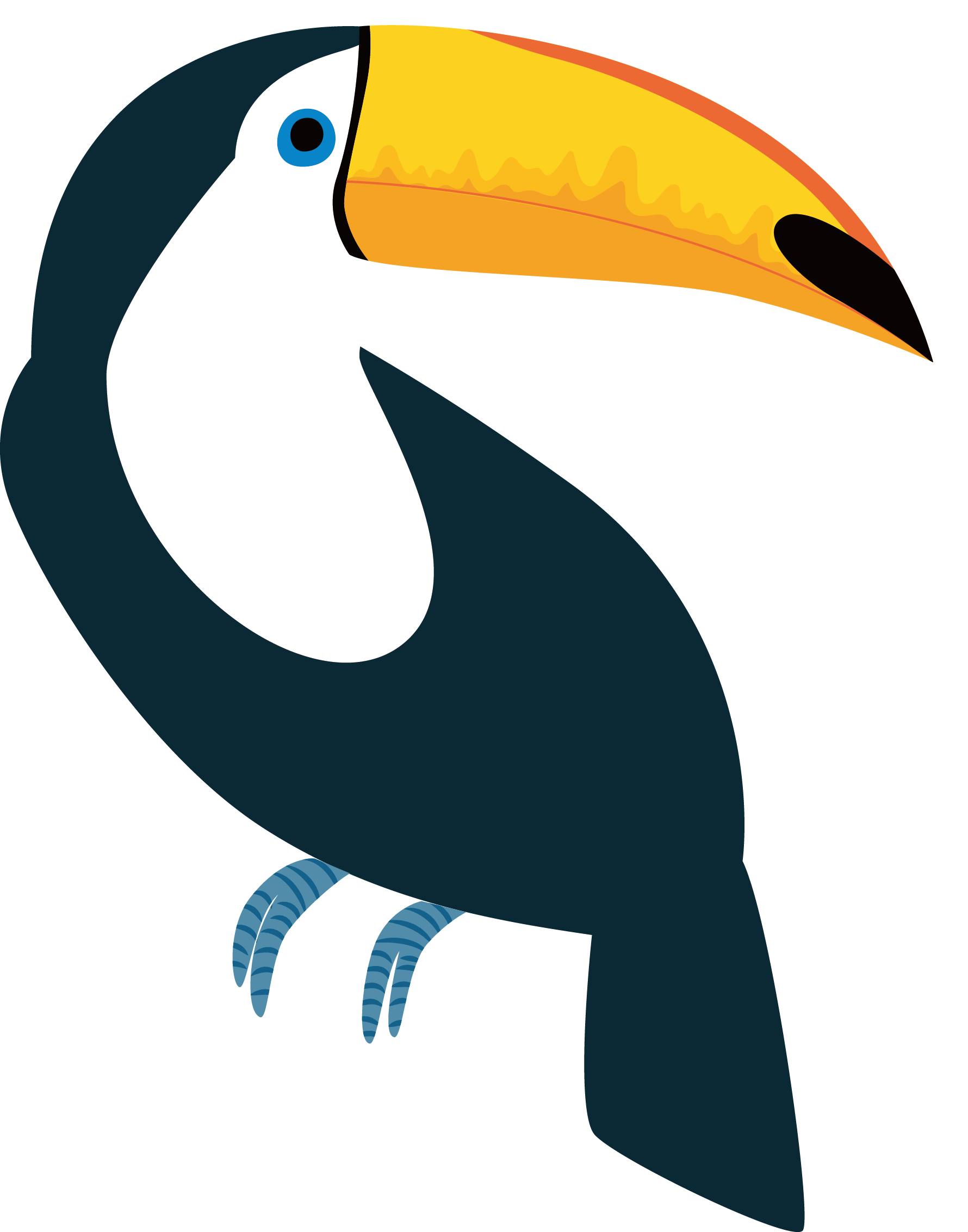 Vector transprent png free. Pineapple clipart toucan