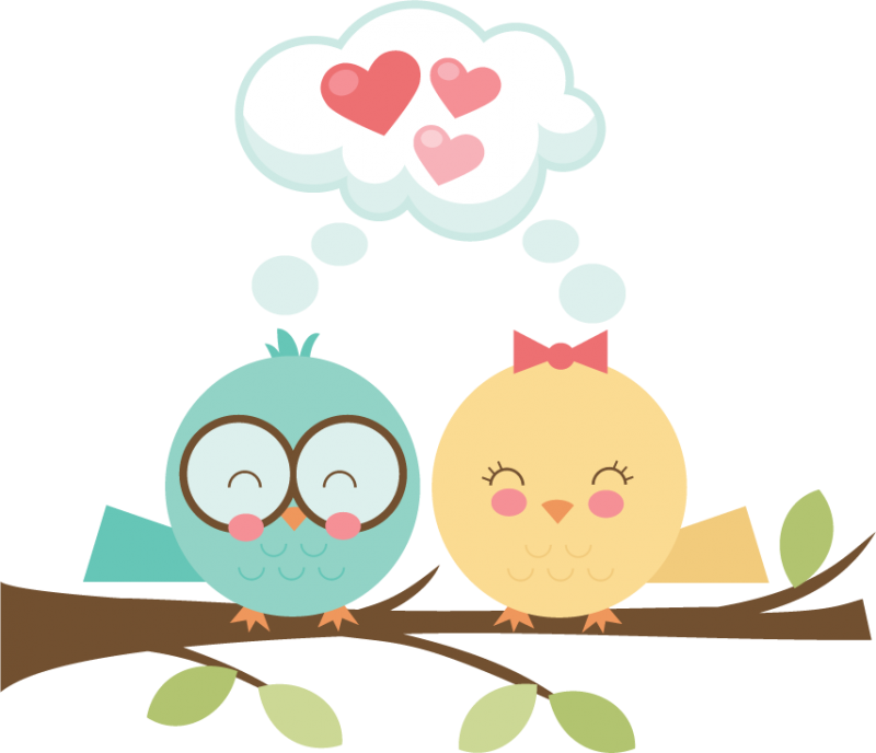 Bird love svg cut. Clipart birds home