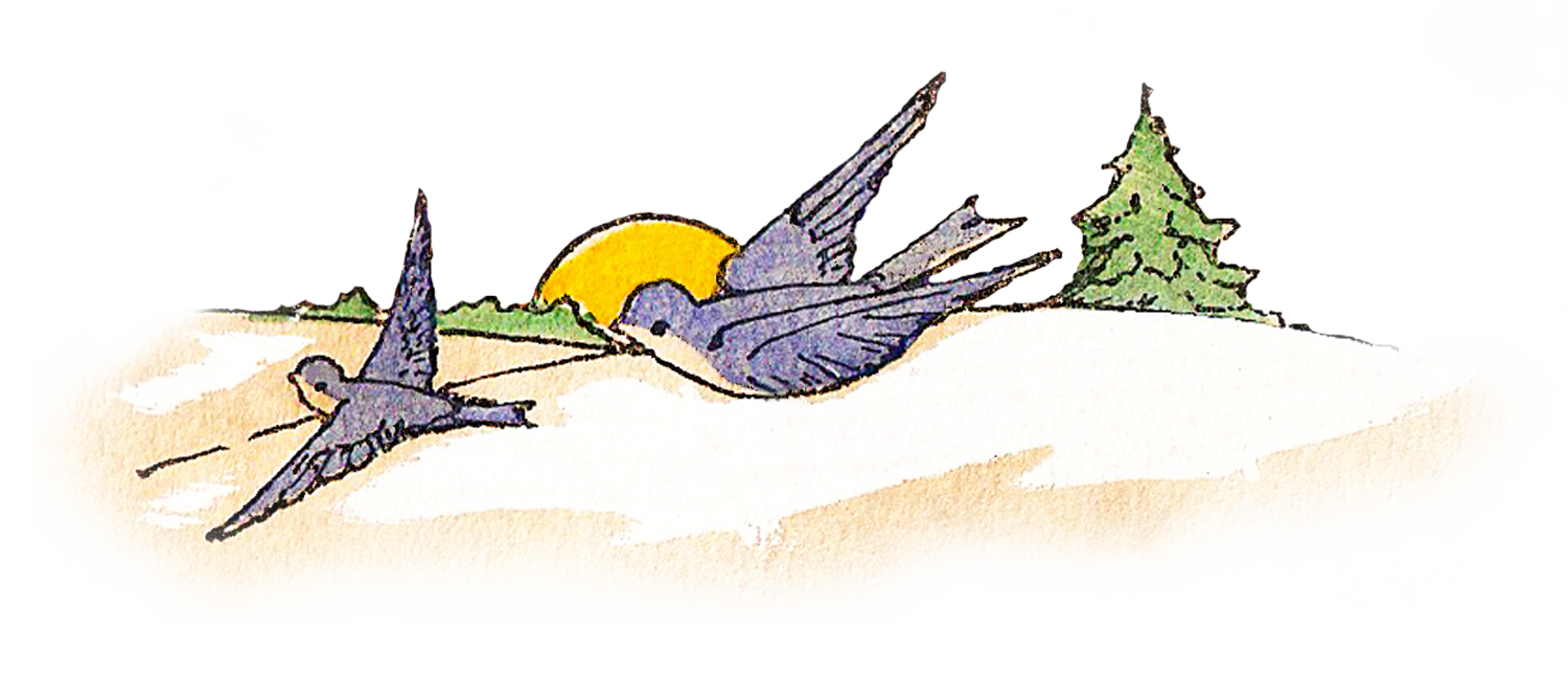 Clipart bird vintage. Birds flying with tree