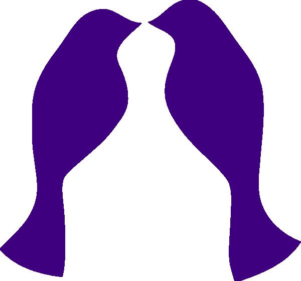 Clipart birds vector. Purple love clip art