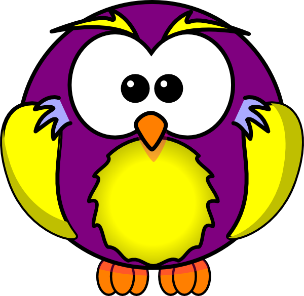 Gold and purple clip. Owls clipart wise owl