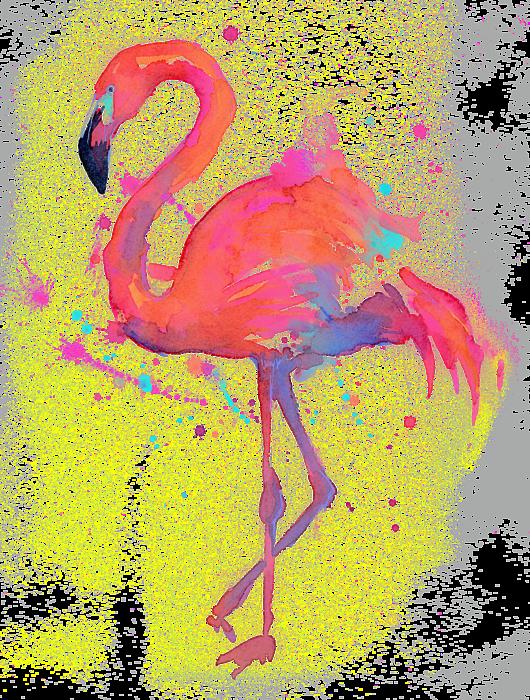 Pink flamingo summer pinterest. Clipart rain watercolor