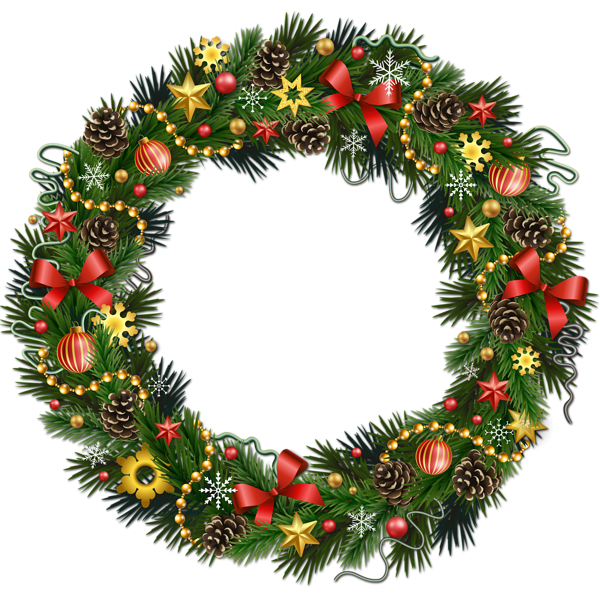 Transparent christmas pinecone with. Clipart vegetables wreath