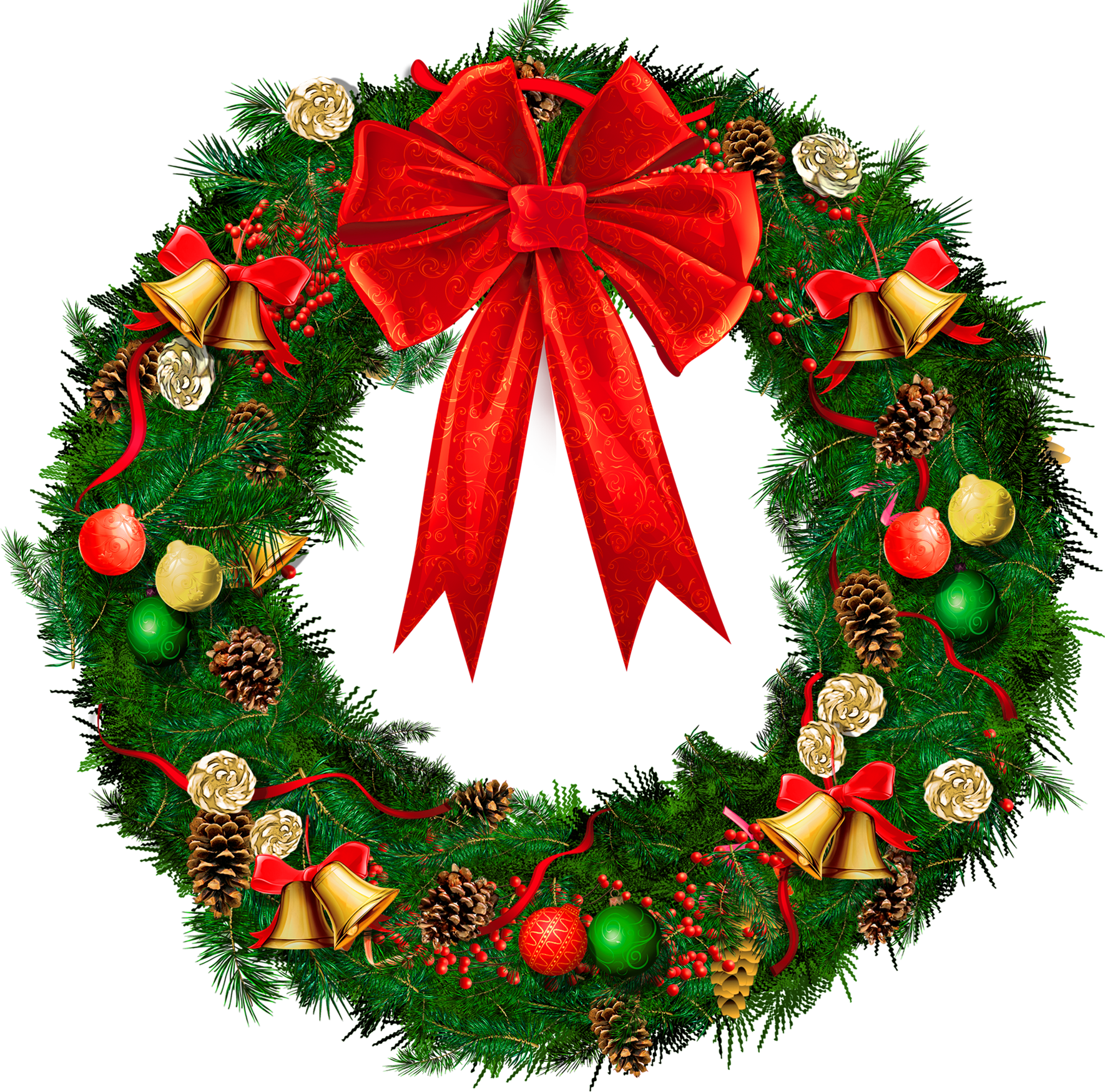 Dinner clipart xmas. Transparent christmas wreath with