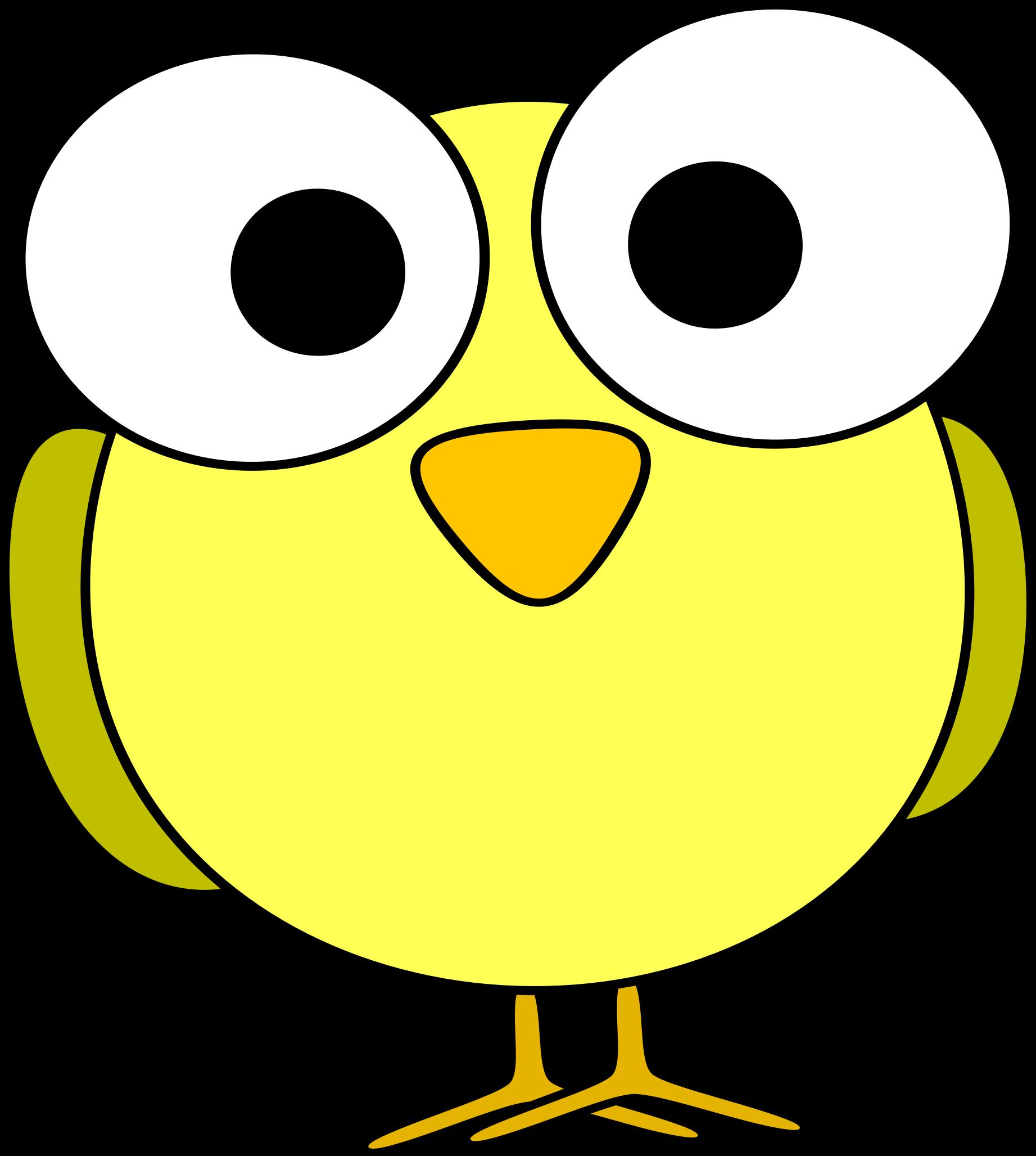 Googley eye bird big. Clipart birds yellow