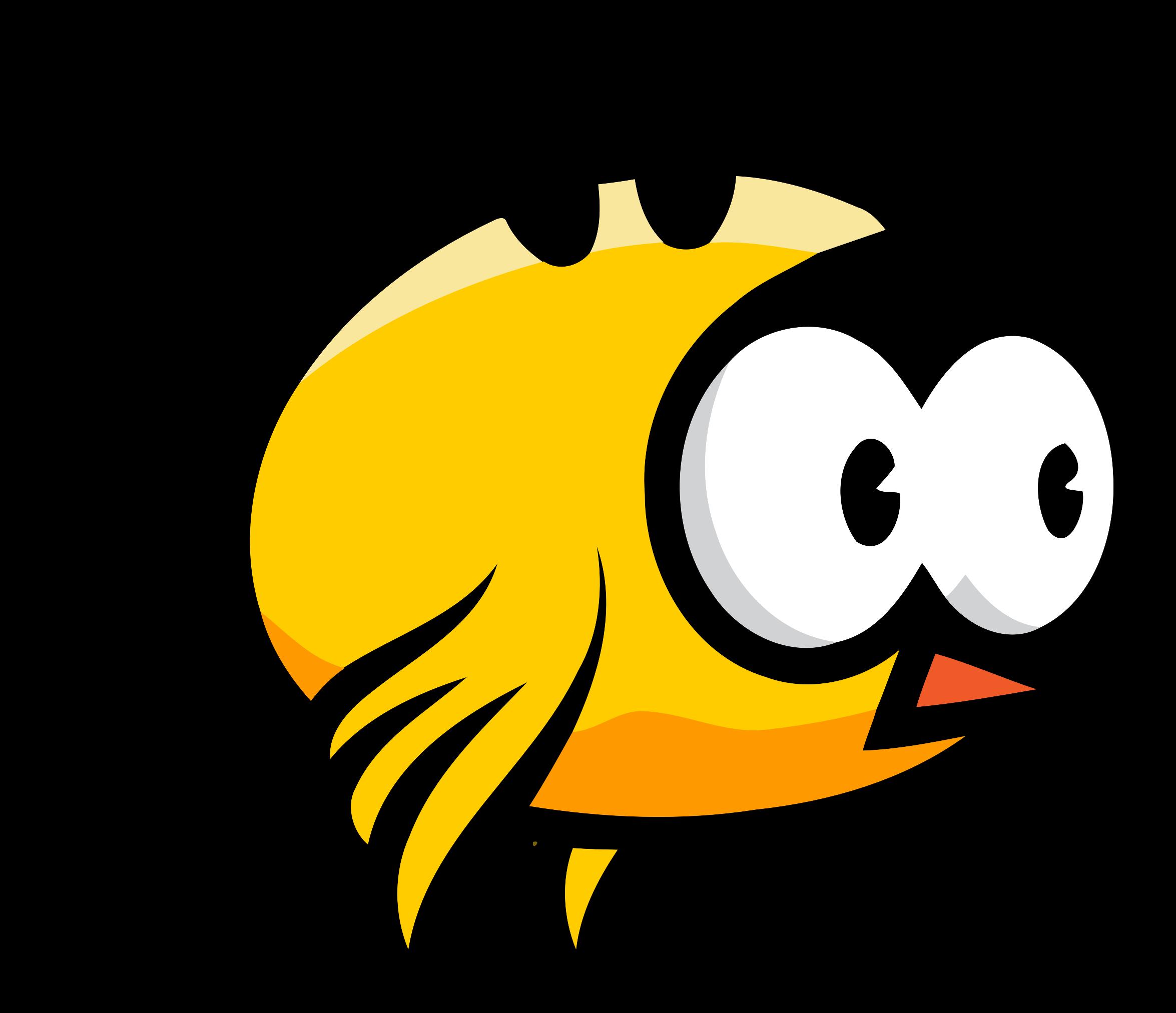 Clipart birds yellow. Flying bird frame big