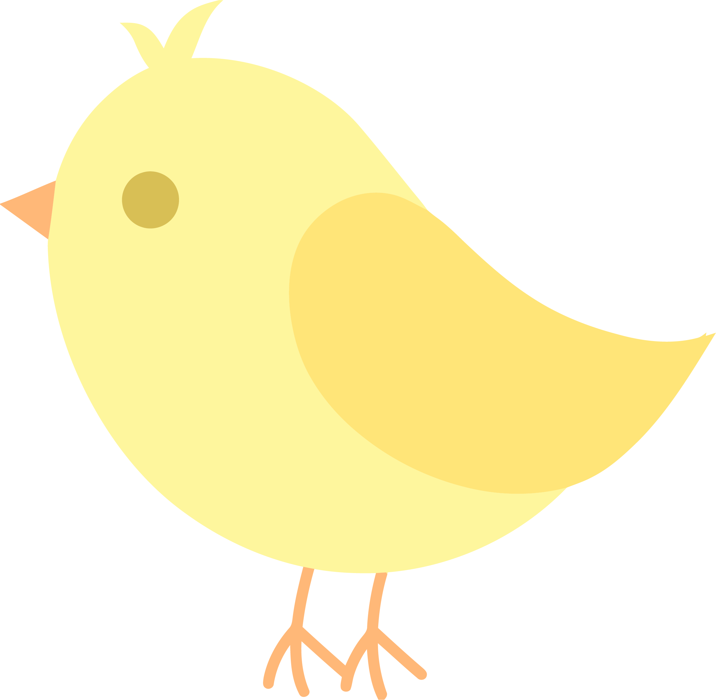 Bird cute png clipartly. Clipart birds yellow