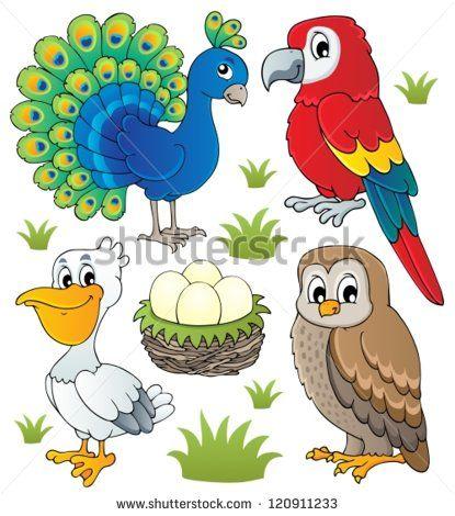 Clipart birds zoo. Free of animals vector