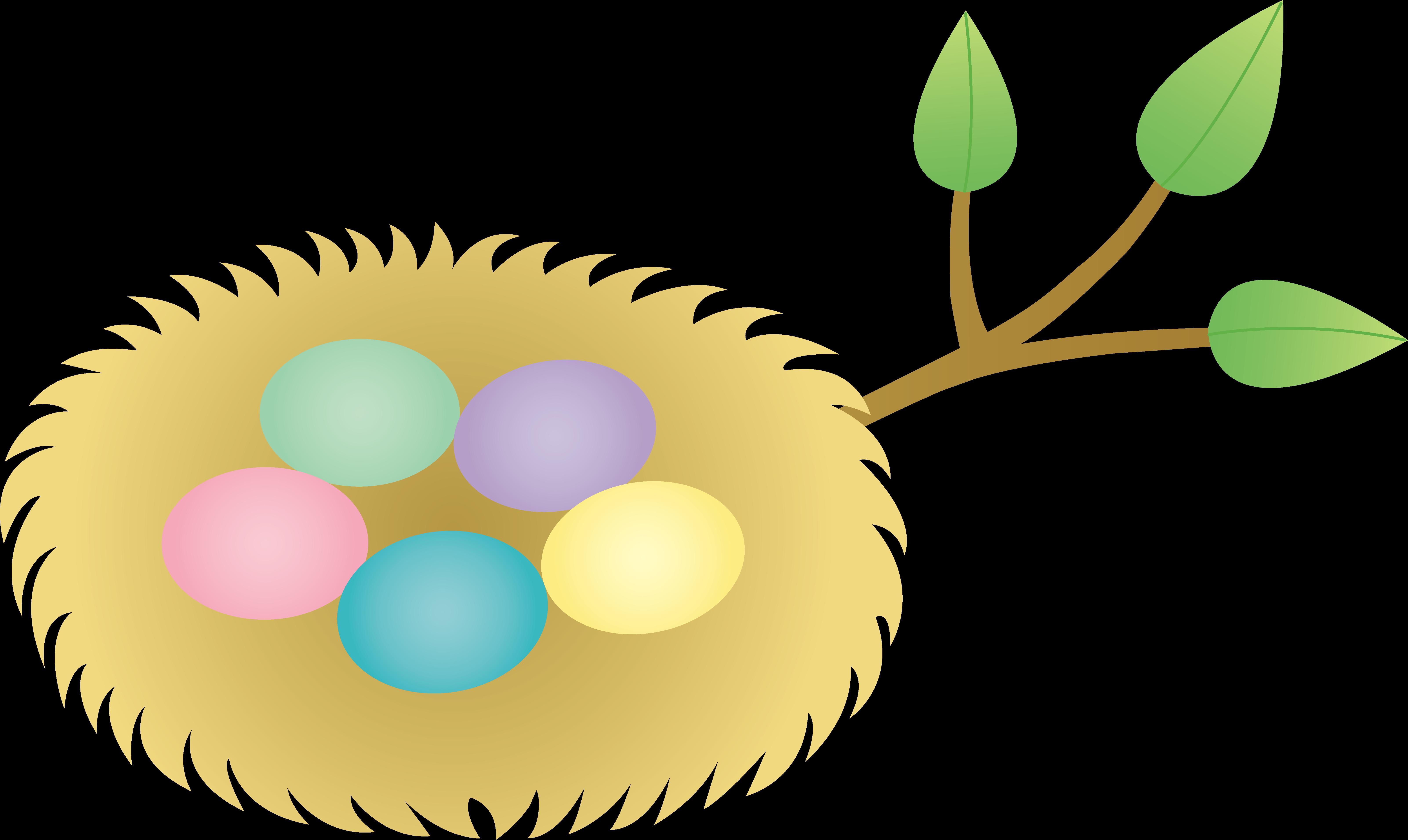 Bird nest egg clip. Ham clipart easter
