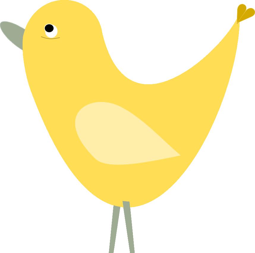 Free digital bird border. Clipart birds divider