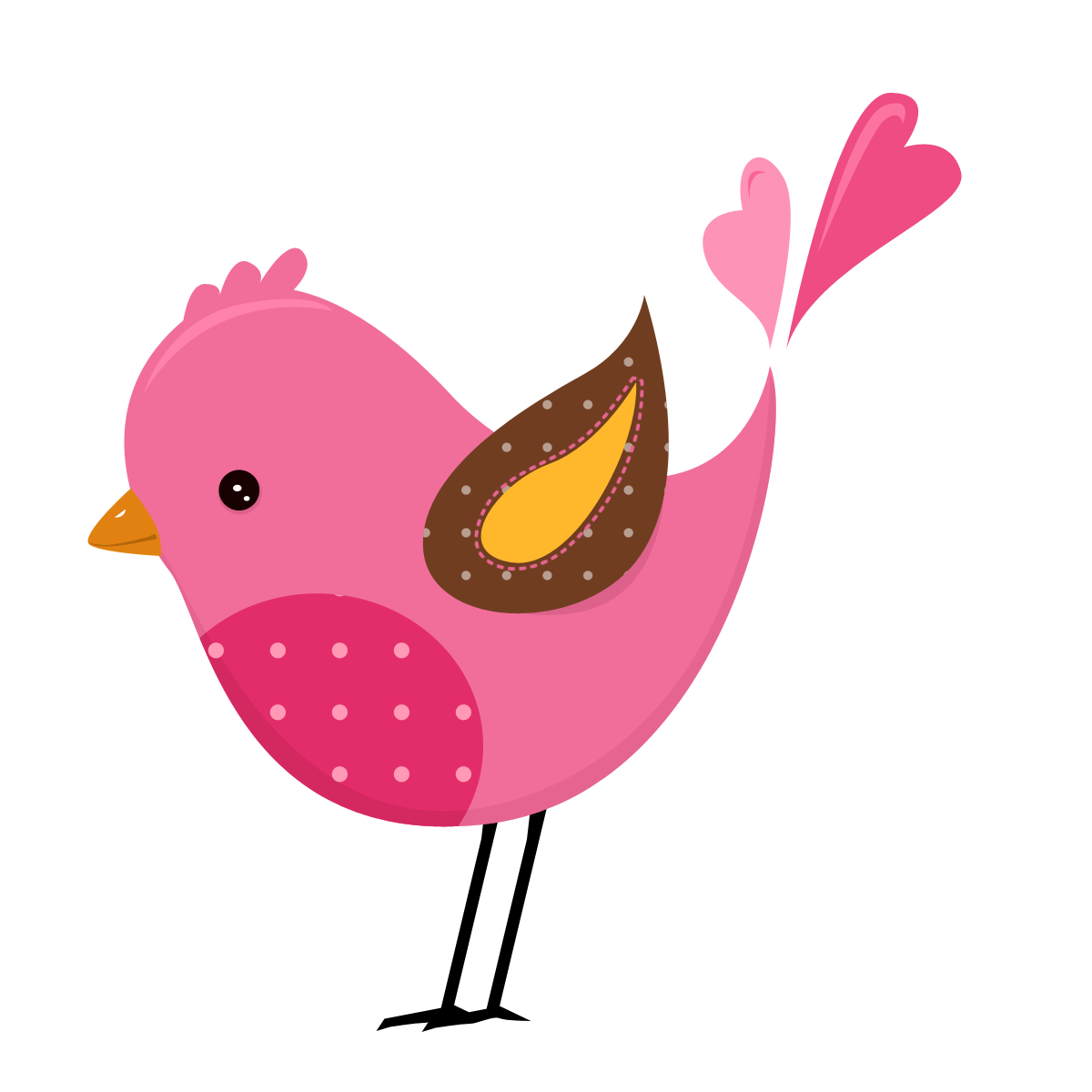 Clipart birds divider. Kit de personalizados tema