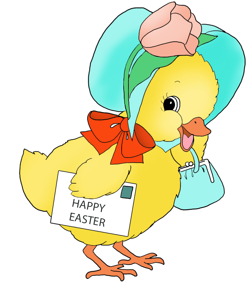 Funny and cute clip. Duckling clipart easter
