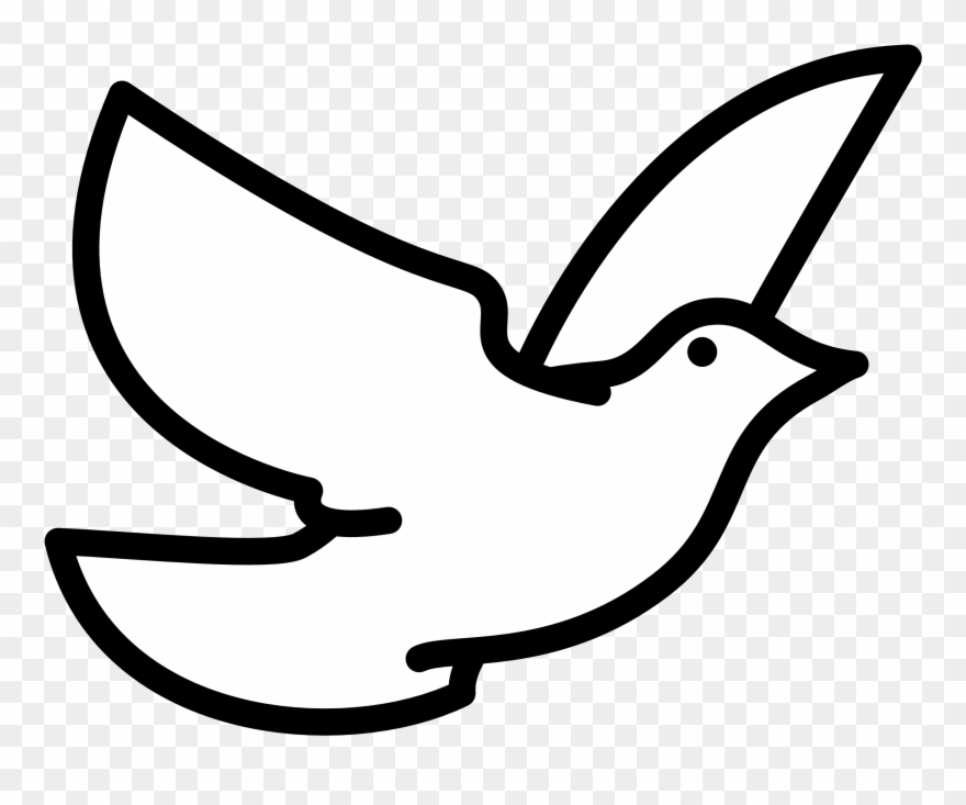 Doves clipart spiritual. Holy spirit dove black