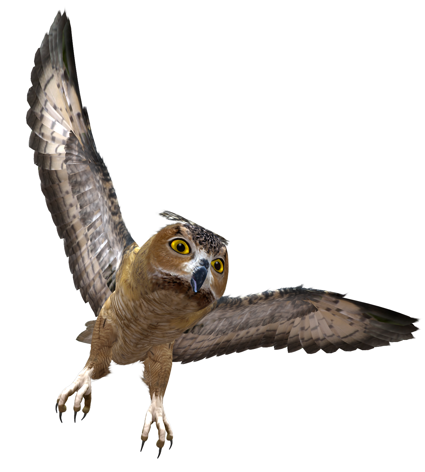 Owl in flight png. Flying clipart vaction