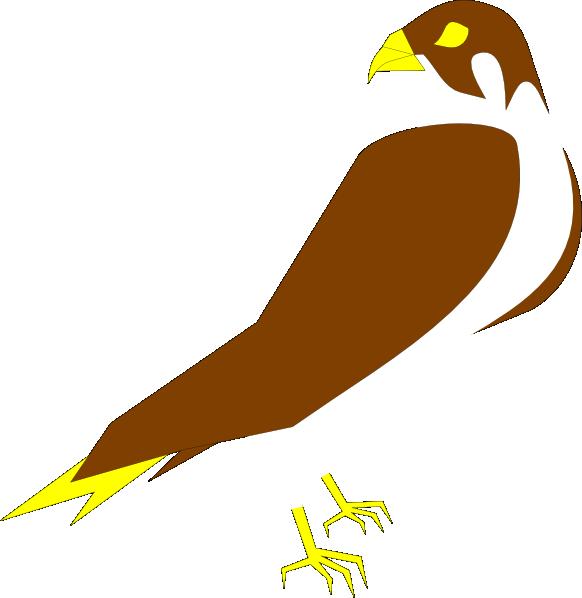 Falcon clip art at. Clipart birds falcons