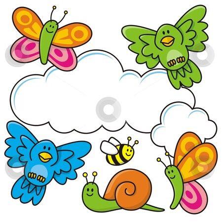 Butterflies bugs art drawings. Clipart birds insect