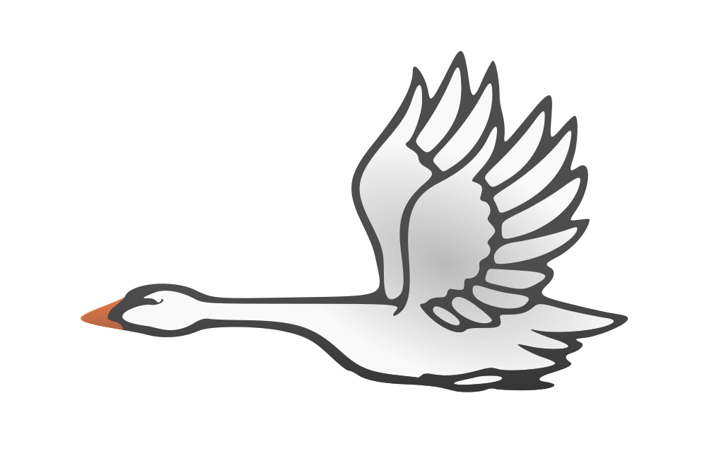 Wing clipart swan. In flight flying rooweb