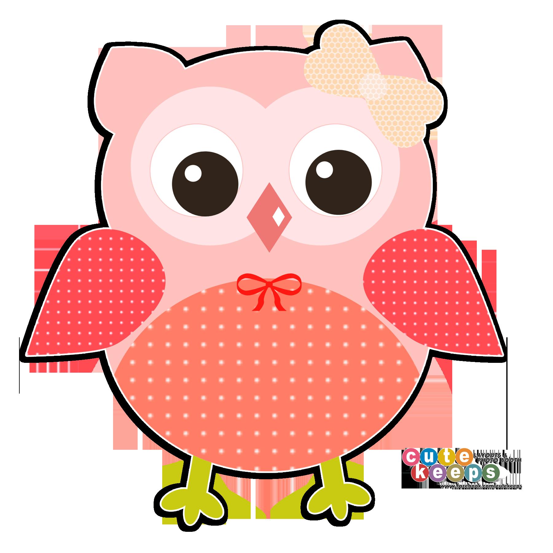 Floral clipart owl. Cute peach orange png