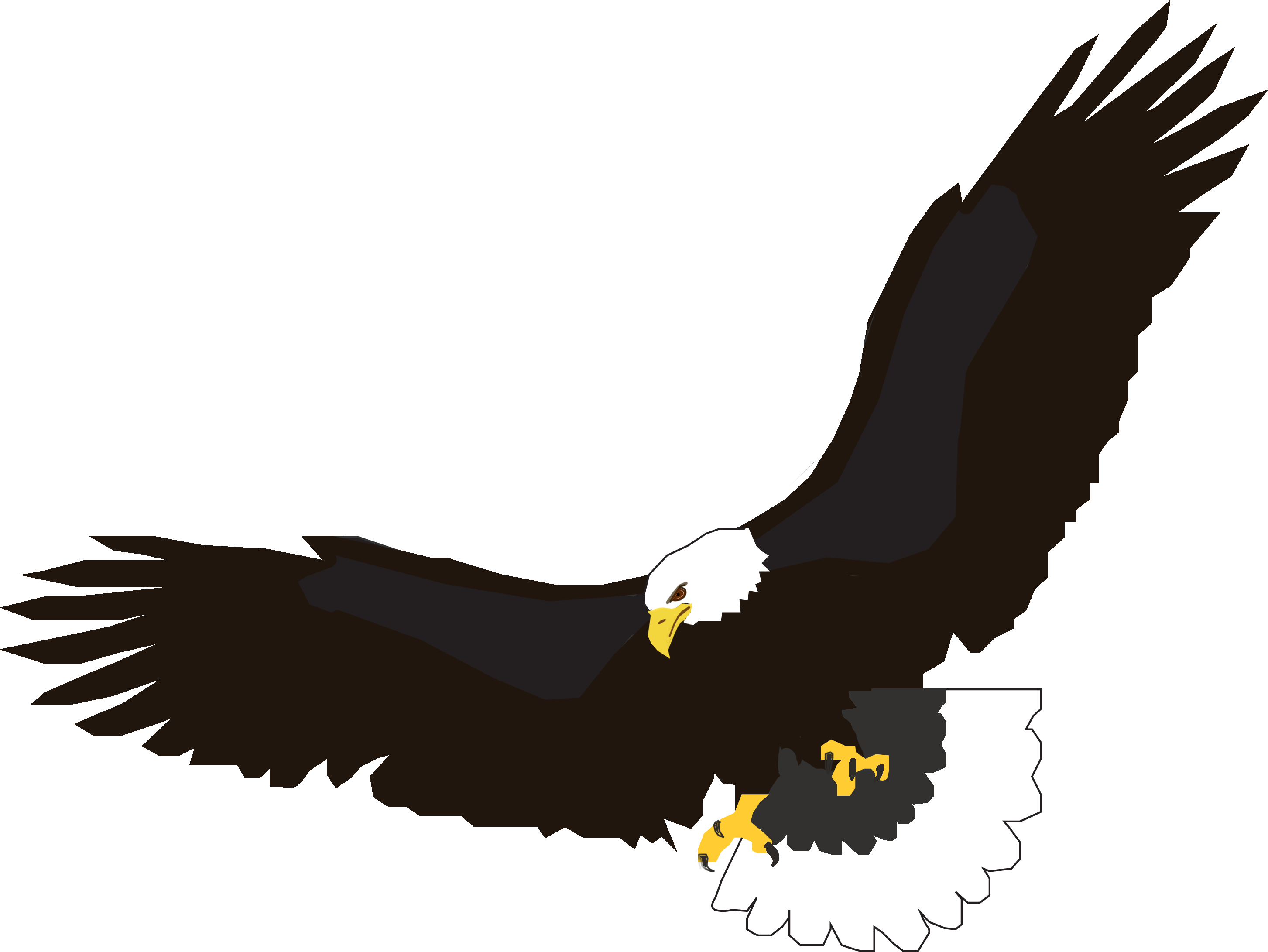 Eagle clipart diving. Eagles design six isolated