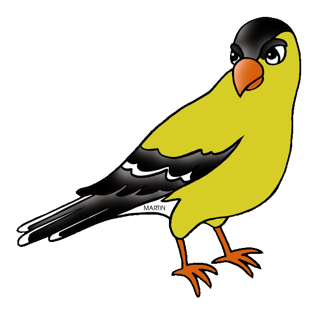 Clipart birds nightingale. New jersey images goldfinch
