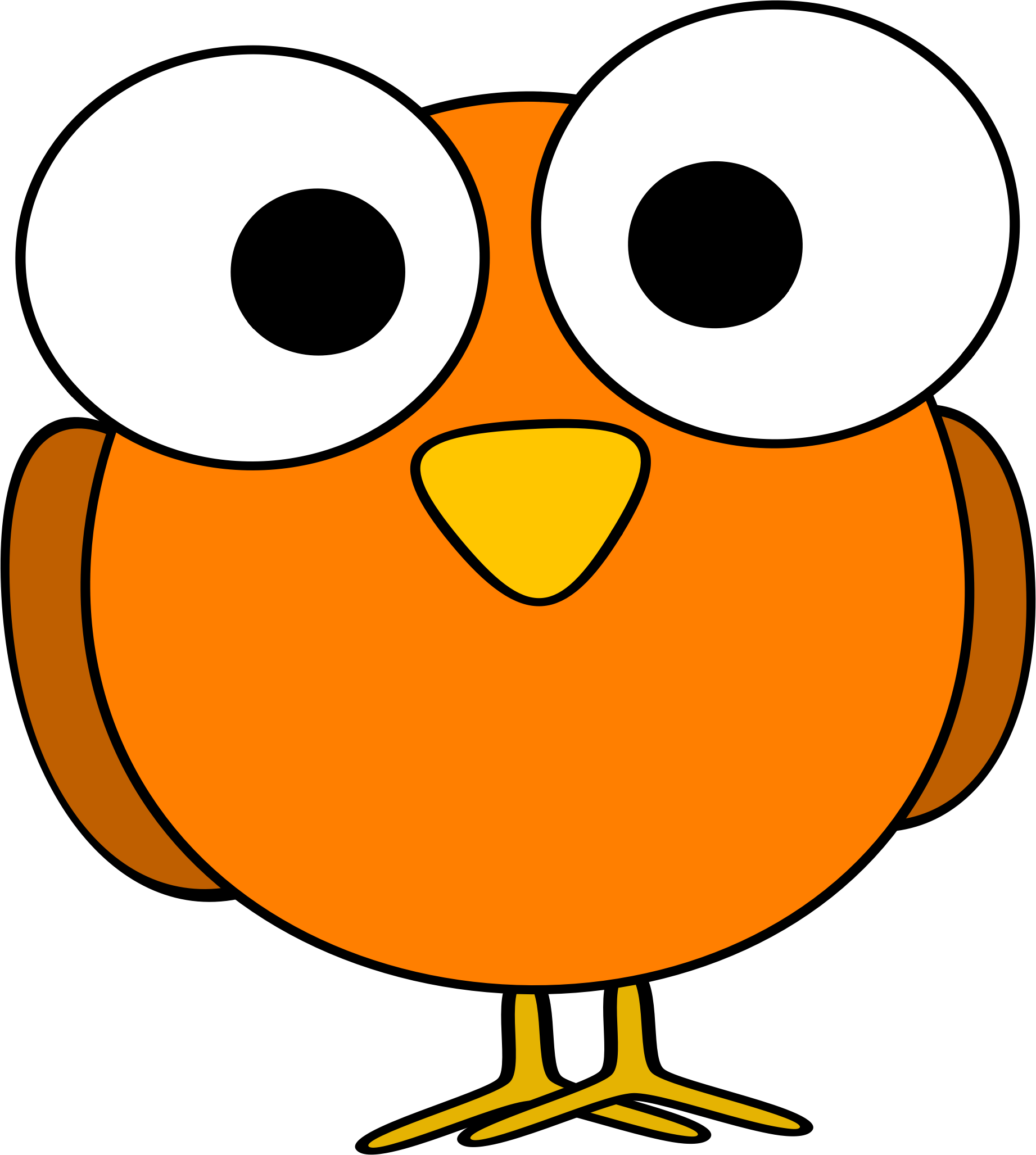 collection of bird. Clipart eye orange