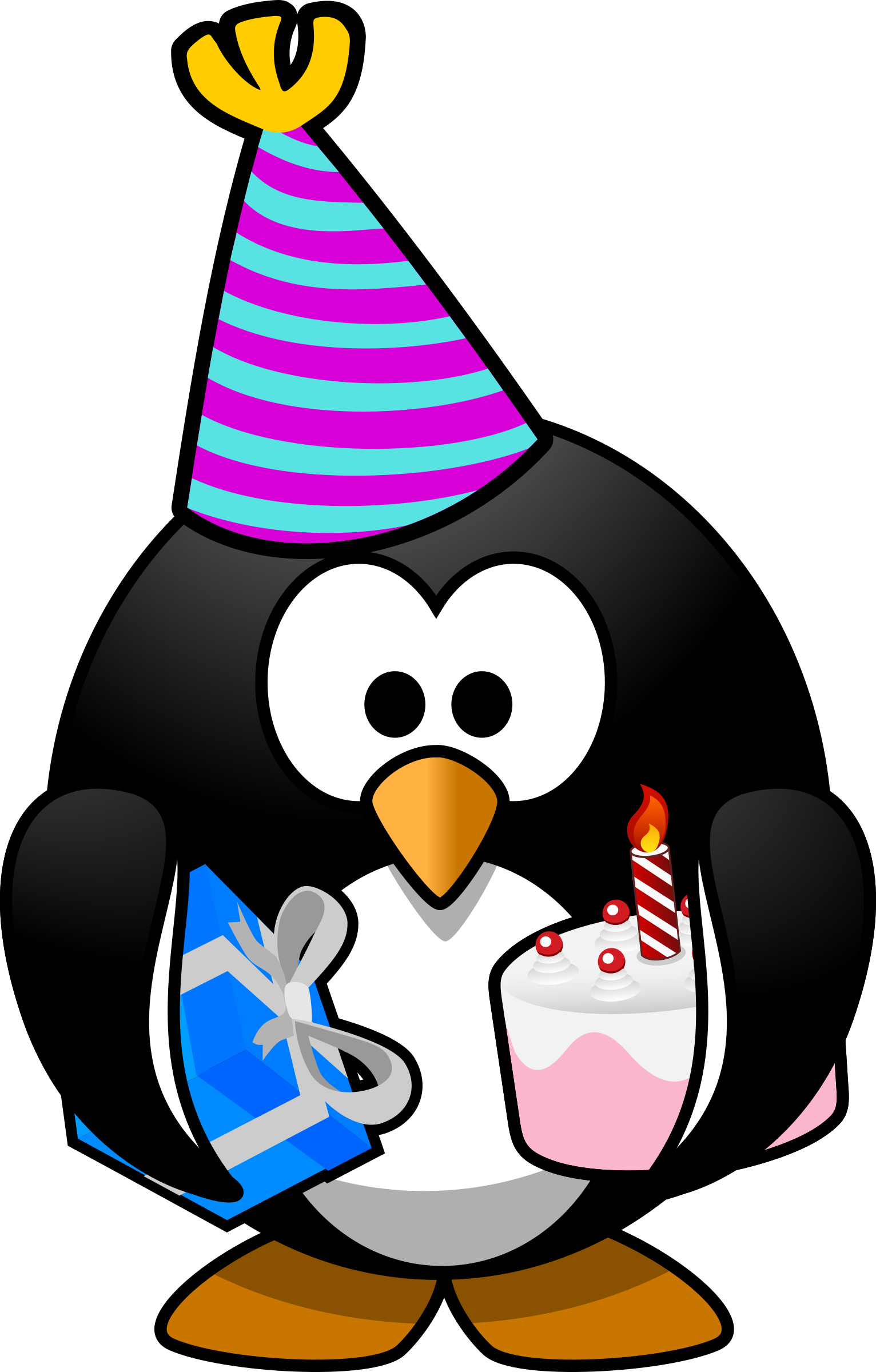 Pet clipart winter. Party penguin big image